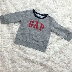 GAP Gray Crewneck Logo Sweatshirt Size 18-24 month